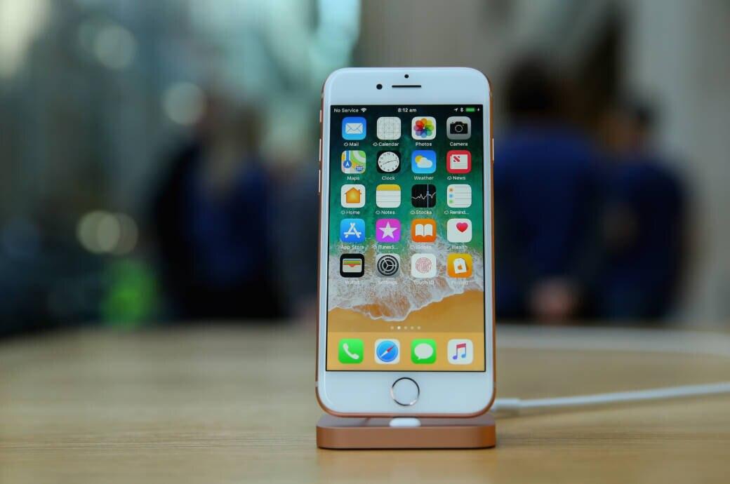 iPhone 8 im Apple Store
