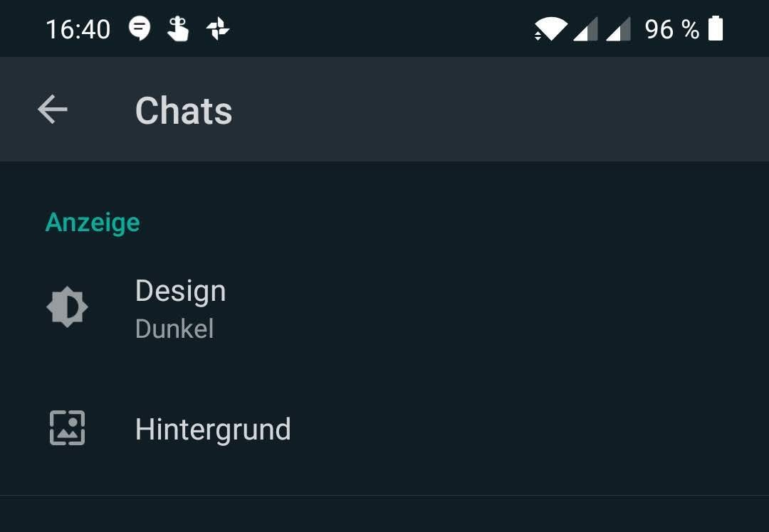 Réglage du mode sombre sur Android