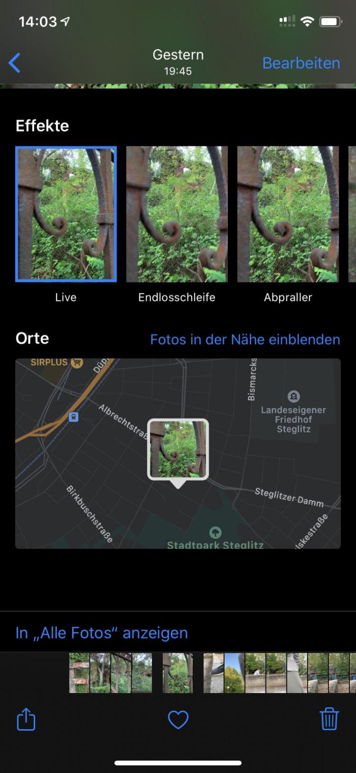 iOS Fotos-Karte