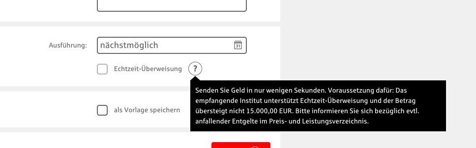 Echtzeit-Überweisung bei der Sparkasse Nürnberg