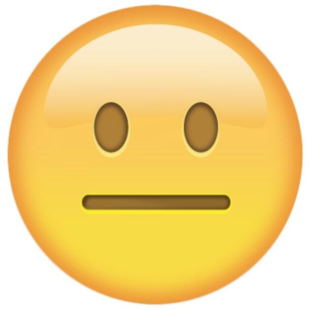 Emoji WhatsApp neutrales Gesicht