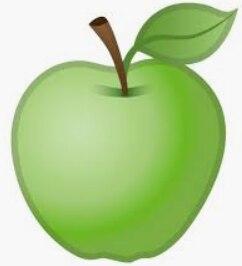 Emoji WhatsApp Grüner Apfel