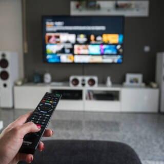 App-Oberfläche auf dem Fernseher