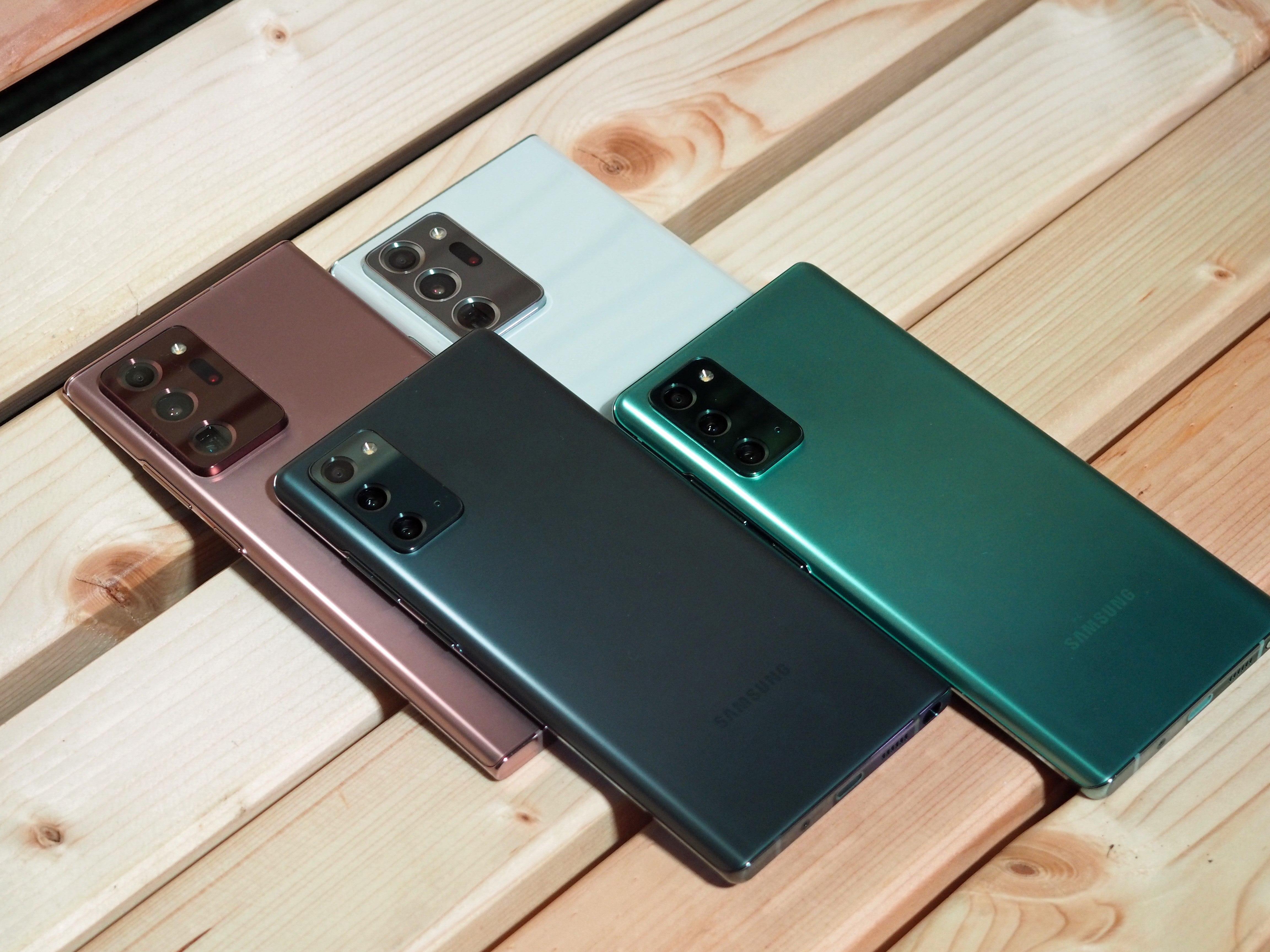 Farben des Samsung Galaxy Note 20