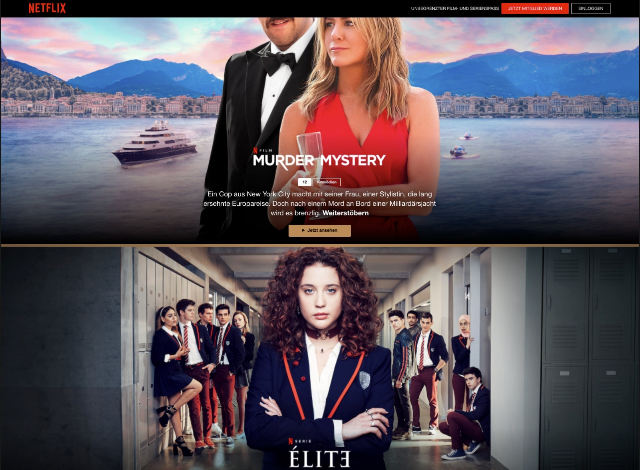 Screenshot Netflix kostenlos