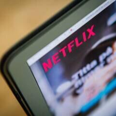Netflix kostenlos Symbolbild: Netflix-Schriftzug auf PC-Bildschirm