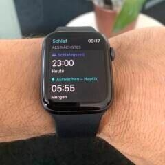 """Apple Watch: Einstellung Zeitplan in """"Schlaf"""" unter WatchOS 7"""