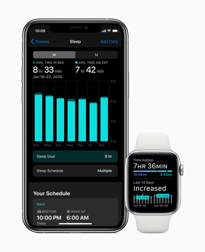 watchOS 7 Schlaf-Tracking