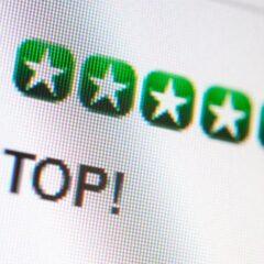 Sterne-Bewertung im Internet