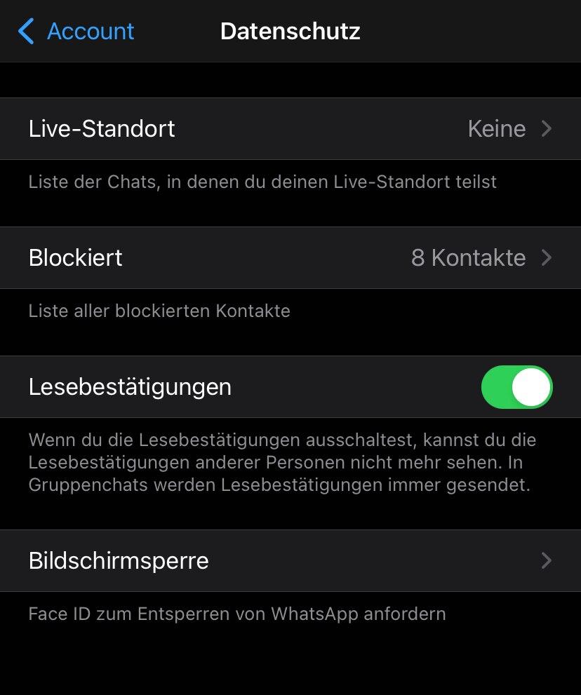 Aktivieren whatsapp lesebestätigung nachträglich WhatsApp Lesebestätigung,