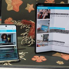 Das neue Samsung Galaxy Z Flip 3 (links) und Z Fold 3 (rechts)